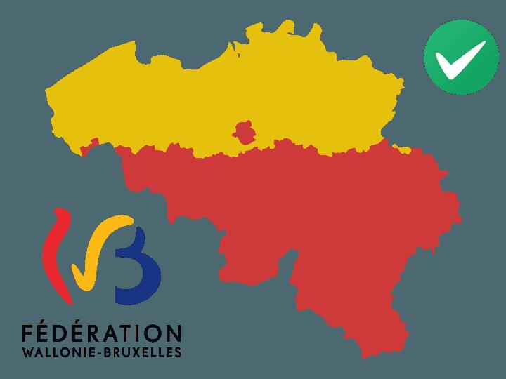 Reconnu par la Fédération Wallonie-Bruxelles