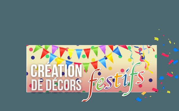 Création de décors avec comme thème la kermesse de village