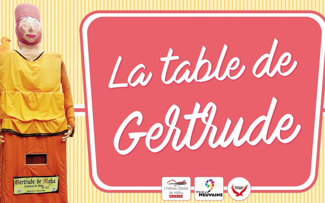 Réservation de place pour la table de Gertrude