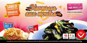 Kermesse aux moules de la section Faucons Rouges de Nivelles