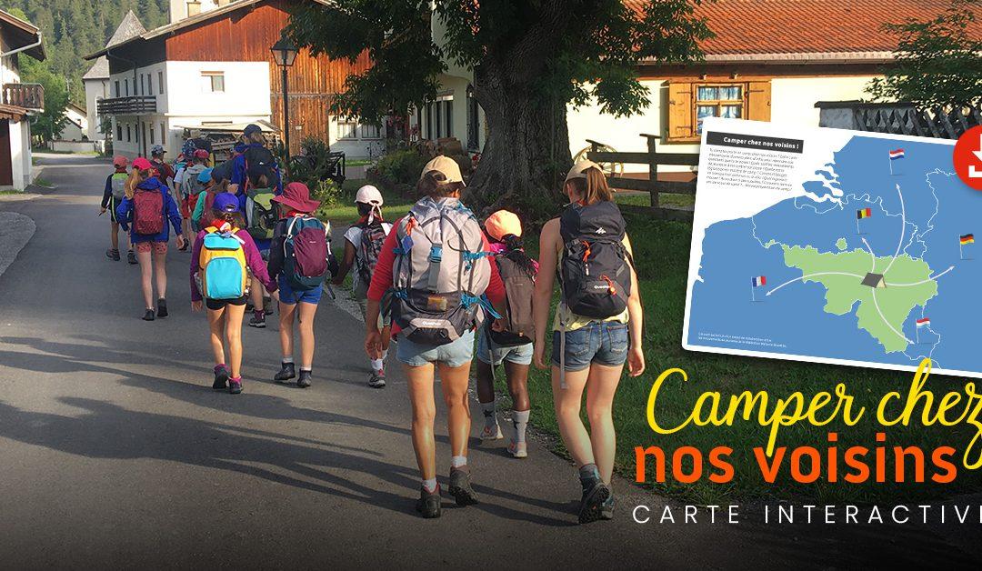 Camper chez nos voisins ! Carte interactive