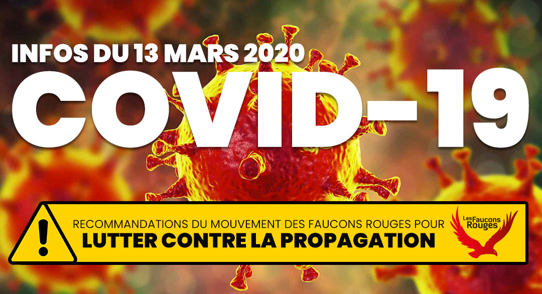[COVID-19] Informations du 13 mars 2020