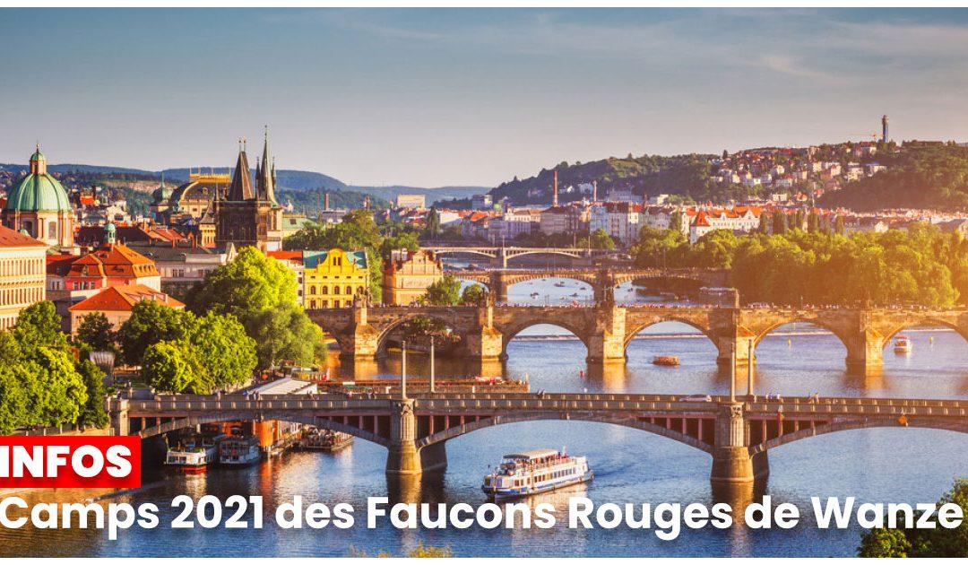 INFOS : Camps 2021 des Faucons Rouges de Wanze