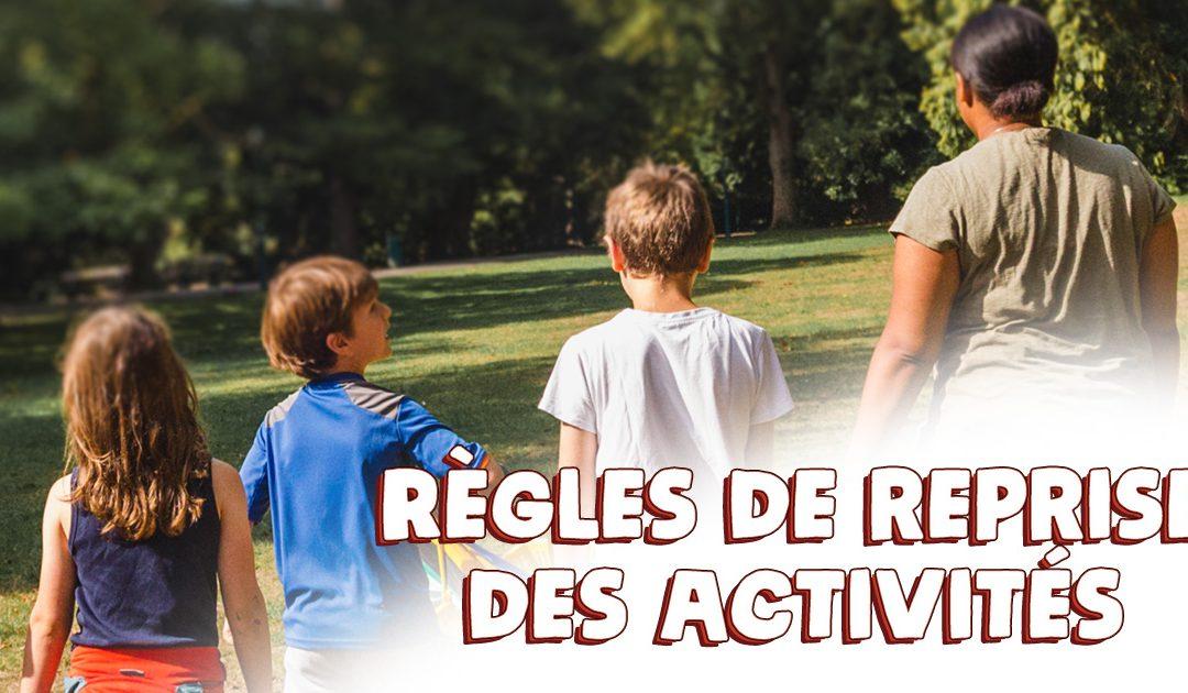 Règles de reprise des activités au 1er septembre